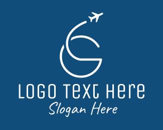 """Plane Travel Letter G"" by ArtFreedom"