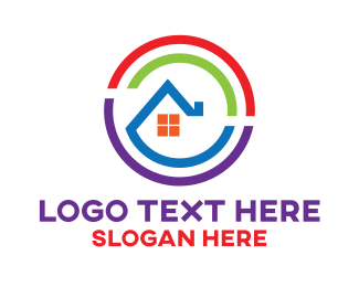Household - House Circle Home logo design