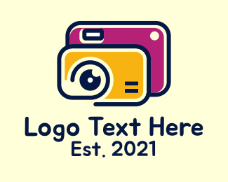Slr - Digital Camera Lens logo design