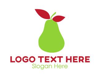 Pear - Green Pear logo design