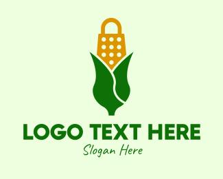 Corn - Corn Husk Grater logo design