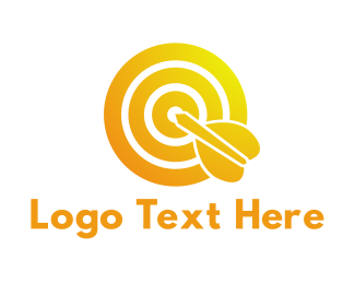 Business Solutions - Gradient Bullseye logo design