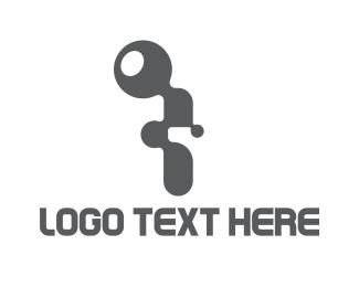Bio Chem - Letter I Tech logo design