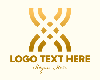 Letter X - Golden Lux Letter X logo design