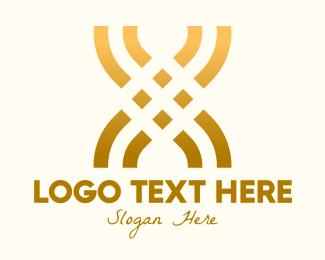 Golden Lux Letter X Logo Maker