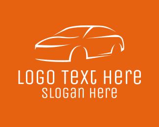 Sedan - White Sedan Car logo design