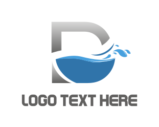 Cleaning - D Water logo design