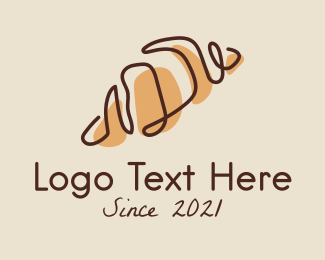 French - French Croissant Bread logo design