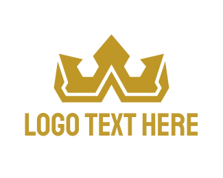 Gold - Gold Polygon Royalty logo design