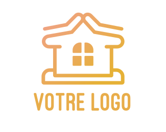 Construction Simple Home Construction  logo design