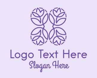 Victorian - Purple Flower Shop logo design