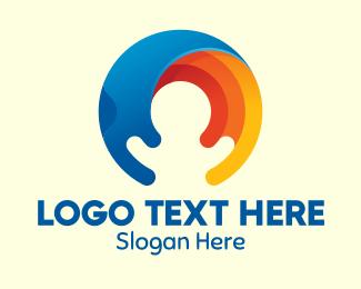Pregnancy - Abstract Elements Circle logo design