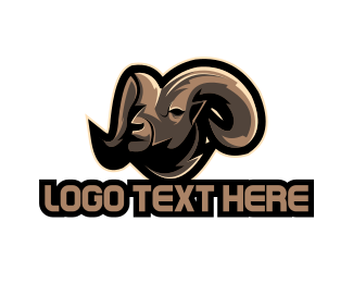 Barn - Brown Goat logo design