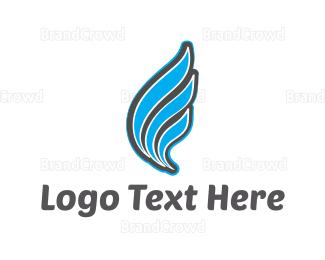 Wing - Blue Wing logo design