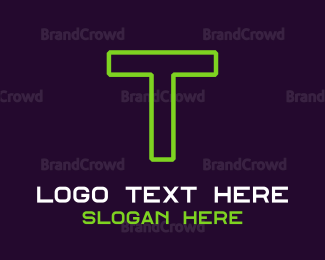 IT Service - Green Game Text logo design