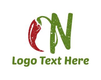 Chilli - Spicy Letter N logo design
