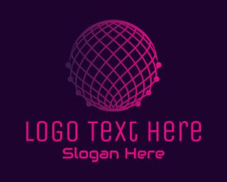 Cyber Cafe - Gradient Tech Globe Digital  logo design