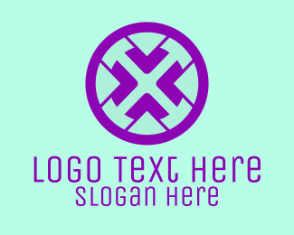 Wheel - Abstract Steering Wheel logo design