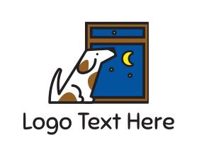 Puppy - Moonlight Dog logo design