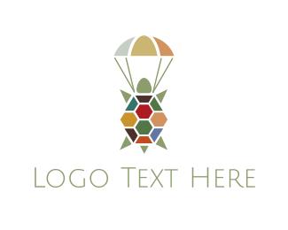 Parachute - Air Turtle logo design