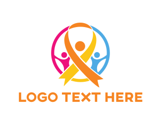 Community - Orange Ribbon logo design