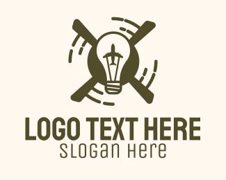 Aviation - Light Bulb Aviation logo design