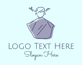 Hairdresser - Hairdresser Barbershop Haircut logo design
