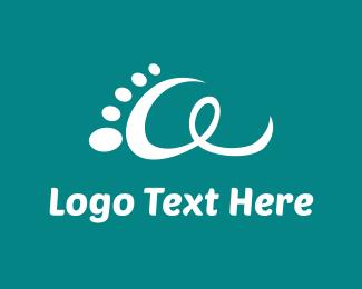 Step - White Footprint logo design