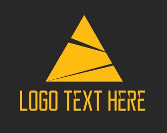 Maya - Yellow Pyramid logo design