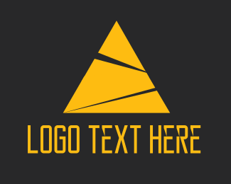 Egypt - Yellow Pyramid logo design
