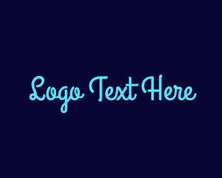 Signature - Bright Blue Handwriting logo design