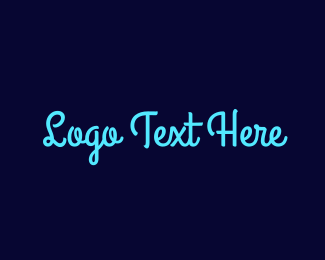 Blue Girl - Bright Blue Handwriting logo design