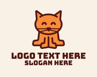 Veterinarian - Cute Kitten Cat  logo design
