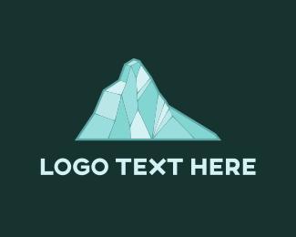 Volcano - Blue Glacier logo design