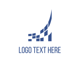 Screen - Blue Screen logo design