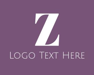 Glamour - Elegant White Z logo design
