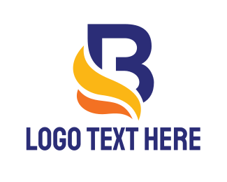 Chef - Colorful Swoosh B logo design