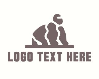 Chimpanzee - Wild Stone Gorilla logo design