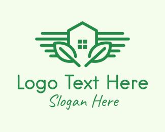 Leaf - Green Garden House logo design