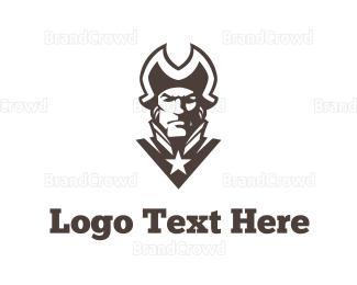 Chief - Patriot Silhouette logo design