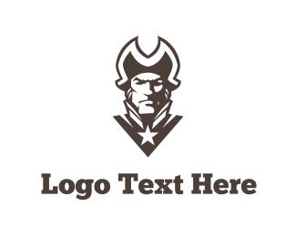 Baseball - Patriot Silhouette logo design
