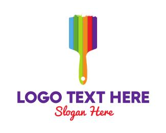 Artistic - Colorful Brush logo design
