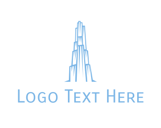 Building - Ice Building Outline logo design