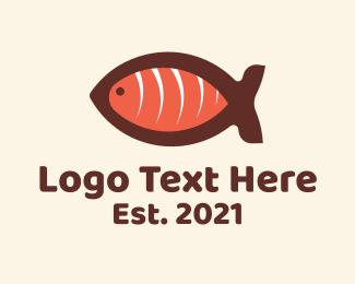 Sashimi - Salmon Sashimi Restaurant logo design