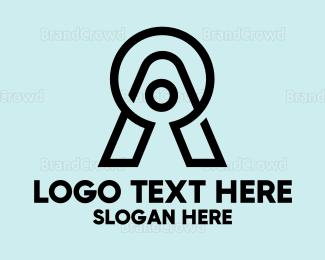 Modern - Keyhole Modern A logo design