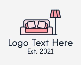 Living Room - Living Room Couch Lamp logo design