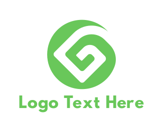 Rune - Green G Pattern logo design
