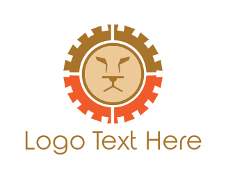 Gears - Lion Gear logo design