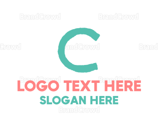 Newborn - Crayon Letter C logo design