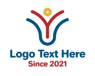 Organization - Charity Organization Letter V  logo design